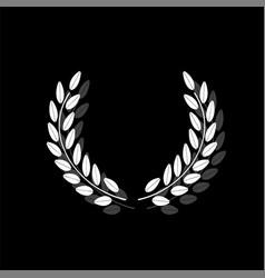 laurel wreath icon flat vector image