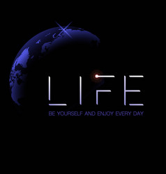 life space background vector image