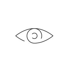 Line eye icon vector
