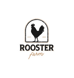 Logo a rooster with a classic model vector