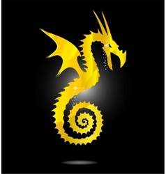 magic gold asia dragon isolated vector image