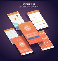 Mobile application design concept vector