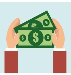 money bills dollar tax vector image
