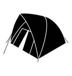 Mountain tent icon simple style vector