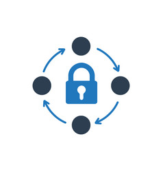 Network protection icon vector