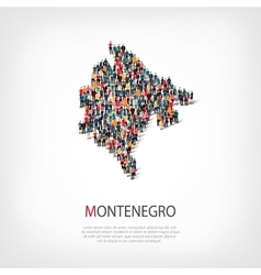 people map country Montenegro vector image