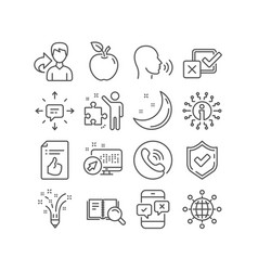 Phone survey inspiration and strategy icons vector