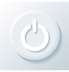 Power 3D Paper Icon vector