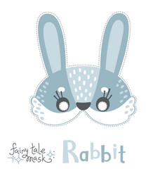 rabbit bunny hare carnival mask for baby vector image