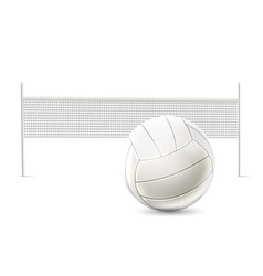 realistic beach volley net white mockup vector image