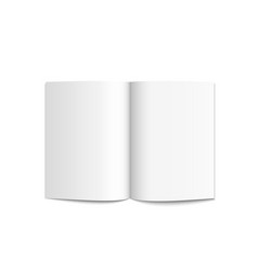realistic blank white magazine vector image