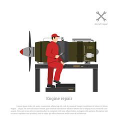 repair and maintenance aircraft vector image