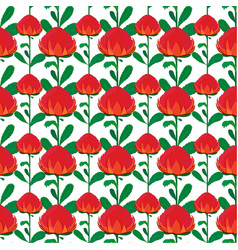 seamless background with wartah flowers vector image