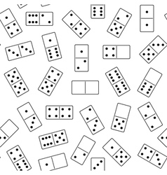 Seamless domino background vector