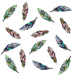 Seamless feather background vector