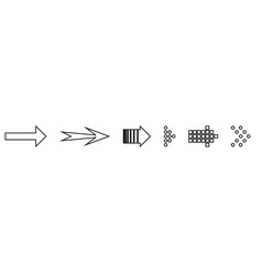 set black arrows arrow icon arrow vector image