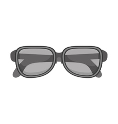 silhouette glasses with monochrome color vector image