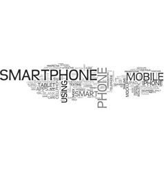 Smartphone word cloud concept vector