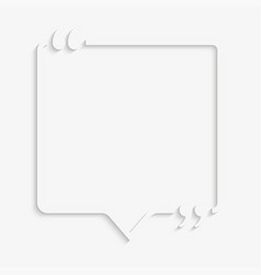 speech bubble quote empty quote bracket vector image