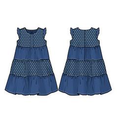 Summer denim dress vector