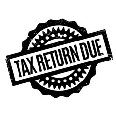 Tax return due rubber stamp vector