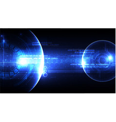 technological space head-up display background vector image