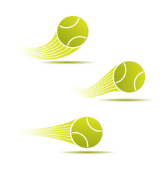 tennis moving set vector image