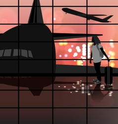 The Airport vector image