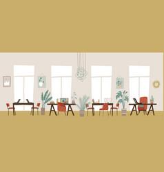 trendy elegant co-working center interior modern vector image
