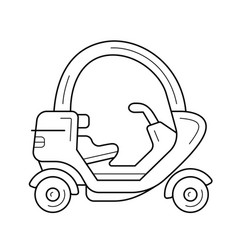 Tuk tuk line icon vector