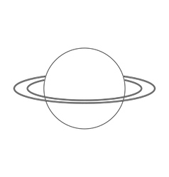 Uranus icon in outline style isolated on white vector
