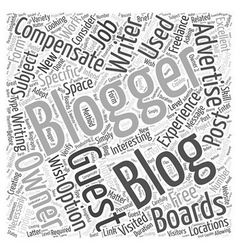 Using Guest Bloggers Word Cloud Concept vector image