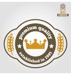 Vintage logo badge emblem or logotype elements vector image vector image