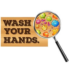 Wash your hands sign vector