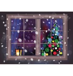 Winter window vector