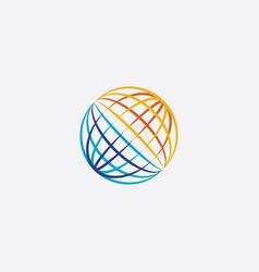 world globe icon symbol element vector image