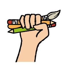 Write utensils design vector