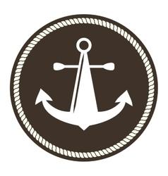 Anchor symbols badge vector image