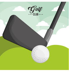 golf club ball poster vector image vector image