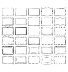 Simple doodle sketch square frames vector image vector image