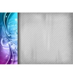 tech background line left blue vector image vector image