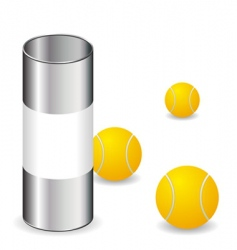 tennis balls with can vector image vector image