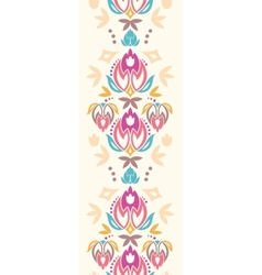 Abstract damask tulips vertical seamless pattern vector image vector image
