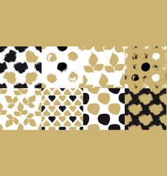 decorative seamless patterns vector image