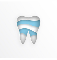 flat tooth vector image