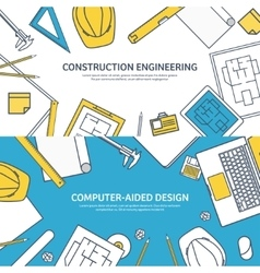 Lined outline Engineering vector image vector image