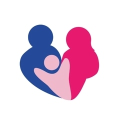 Parents and child icon abstract family design vector
