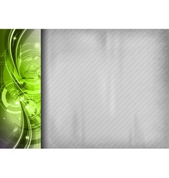 tech background line left green vector image vector image