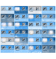 apartments in winter night vector image vector image