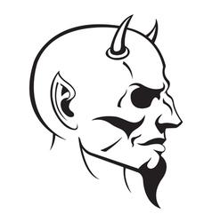 Devils head profile vector